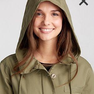 TWIK Hooded Khaki Rain Jacket Windbreaker